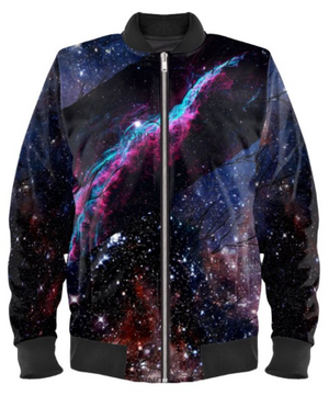 'Witches Broom' Galaxi Bomber Jacket By Mark Loring