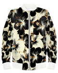 Kuro Shiro Floral White Edition Bomber Jacket By Mark Loring