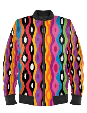 Living Color Bomber Jacket By Mark Loring