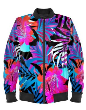 Dark Exotic Bomber Jacket By Mark Loring