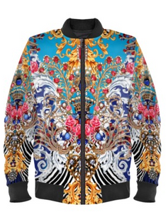 Royal Treasures Bomber Jacket By Mark Loring