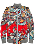 Scarlet Ukrainian Bomber Jacket By Mark Loring