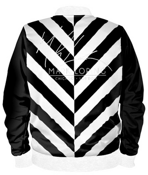 Striped w/Logo Bomber Jacket By Mark Loring