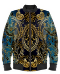 Royal Paisley Floral Bomber Jacket By Mark Loring
