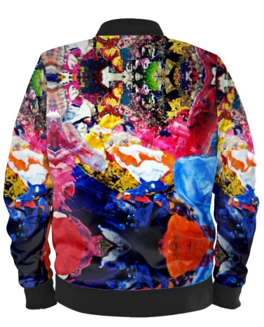 'The Artist' Abstract Art Bomber Jacket By Mark Loring