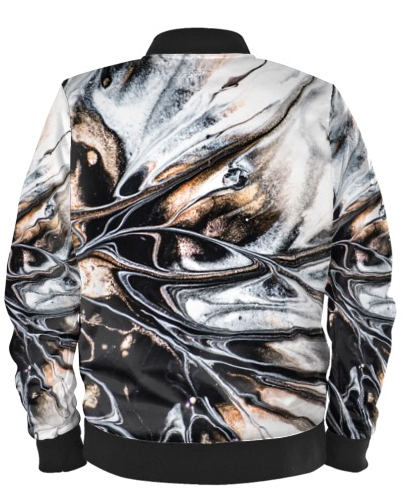 The Marble Effect Bomber Jacket By Mark Loring