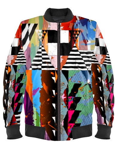 Vintage Abstract Bomber Jacket By Mark Loring