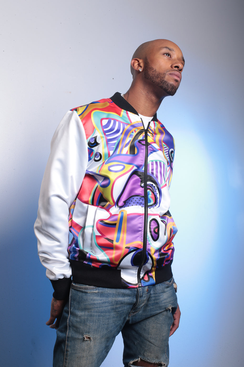 Super Fresh (White Edition) Bomber Jacket By Mark Loring