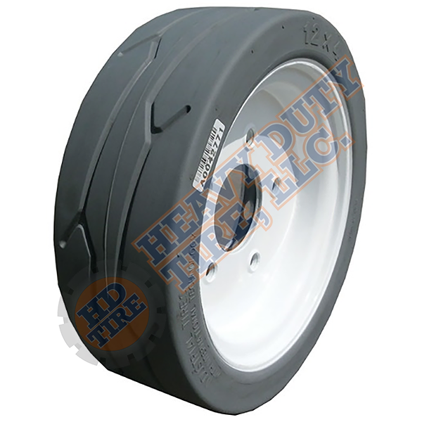 12 x 4 (2.00 x 8) Traxter Solid Grey Non-Marking (No Brake - 5 Hole)