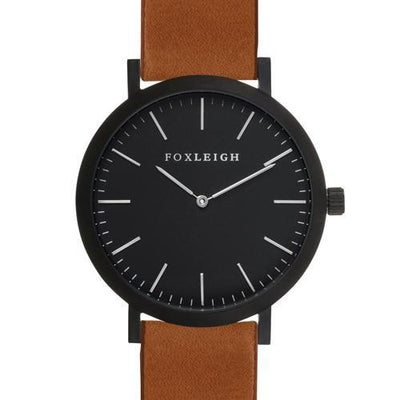 Black & Tan Leather Timepiece