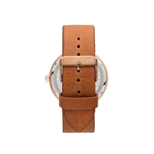 Rose Gold & Tan Leather Timepiece