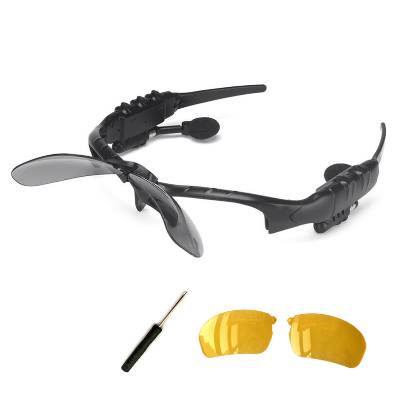 Sport Stereo Bluetooth Sunglasses With Earphones