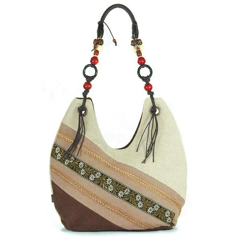 Handbag - Vintage Embroidery Tribal Handbag
