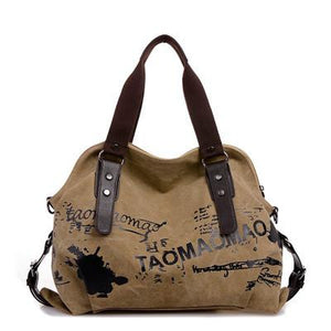 Handbag - Vintage Graffiti Women's Canvas Handbag