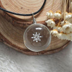 Necklace - Crystal Ball Snowflake Necklace