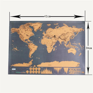 Poster - New Deluxe Travel Edition Scratch-Off World Map Poster