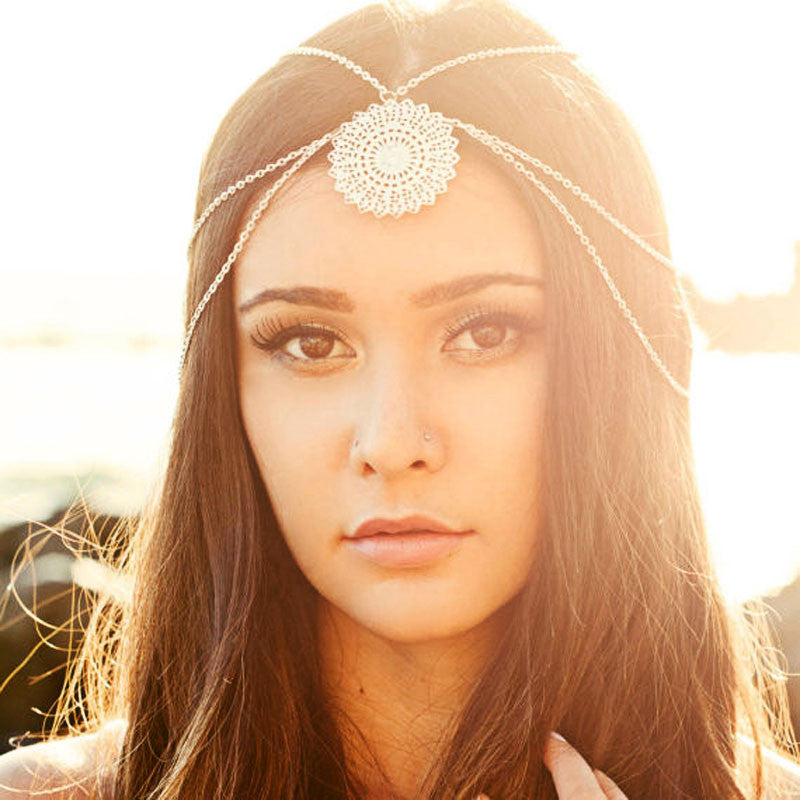 Womens Tassels Head Chain Jewelry