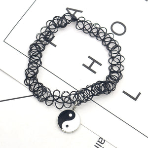 Punk Yin Yang Choker Necklace