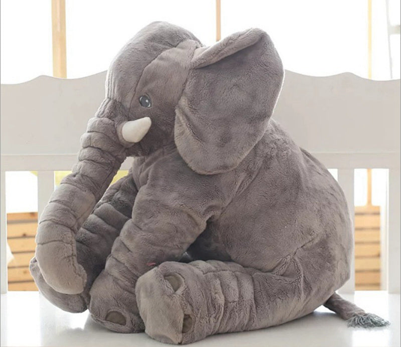 Large Plush Elephant Stuffed Pillow For Kids
