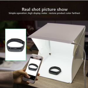 Folding Portable LED Lightbox Studio With 4 Backdrops