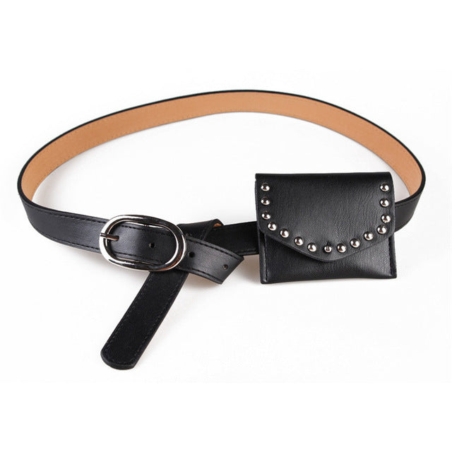 Ladies Waist Belt With Purse
