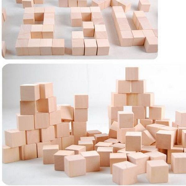 Toys - 100 Piece Educational Wooden Blocks