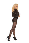 Elegant Moments Sheer Pantyhose with Criss Cross Detail Black