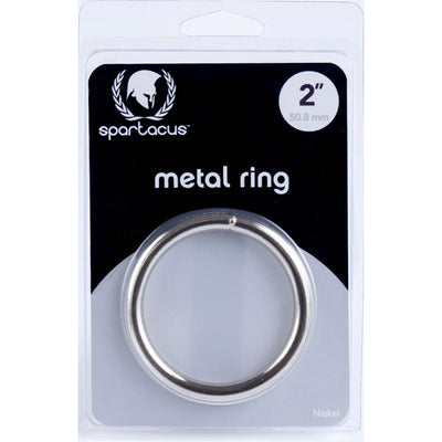 Spartacus Metal Cock Ring 2 inch Nickel Plated Silver