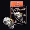 CB 6000S Short Premium Male Chastity Device Cock Cage and Lock Set 2.5 inch Clear