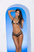 Elegant Moments Lycra Triangle Bikini Top and Matching G String Set One Size Black
