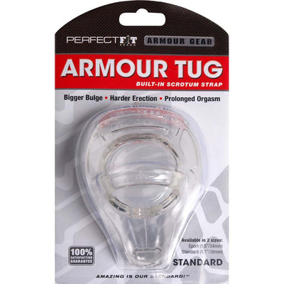 Perfect Fit Armour Tug with Built in Scrotum Strap Standard Cock Ring