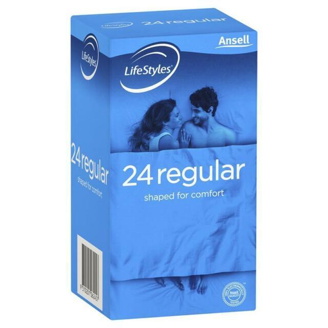 Ansell Lifestyles Regular Condoms 24 Pack