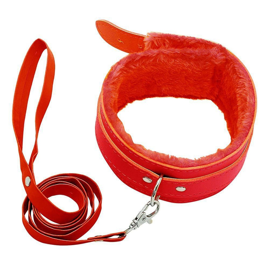 Berlin Baby Faux Fur Lined Adjustable Collar and Leash Set