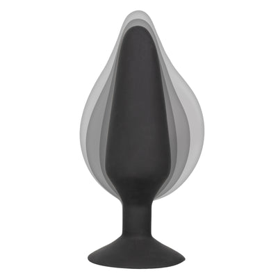 CalExotics Colt XXXL Pumper Plug Silicone Inflatable Anal Butt Plug Probe with Suction Cup Base and Detachable Hose 6.25 inch Black