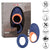 CalExotics Link Up Verge 10 Function USB Rechargeable Thumping Vibrating Silicone Cock Ring 3.5 inch Blue Orange