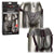Calexotics Her Royal Harness The Regal Queen Vegan Leather Corset Strap On Harness Pewter