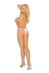 Elegant Moments Crotchless Lace Panty White One Size