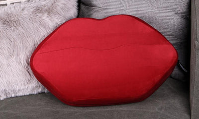 Liberator Kiss Lip Shaped Wedge Sex Position Pillow Red Velvish