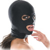 Pipedream Fetish Fantasy Series Spandex 3 Hole Hood Unisex Black One Size