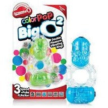 Screaming O ColorPop Big O 2 Double Pleasure Vibrating Cock Ring Blue