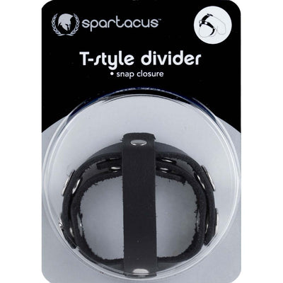 Spartacus T Style Leather Cock and Ball Divider with Snap Closure