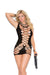 Elegant Moments Crochet Mini Dress Black Queen Size