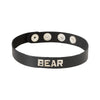 Spartacus Leather BEAR Wordband Adjustable Collar Black