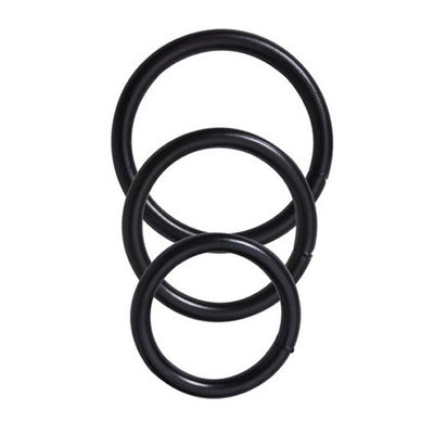 Spartacus Metal Cock Rings 3 Piece Set Black
