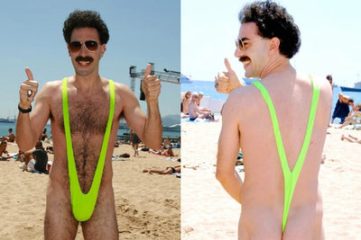 Envy Borat Mankini Stretchy Thong Swimsuit Costume Lime Green