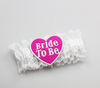 Miss Behave Hen Night Bride To Be Leg Garter White and Pink