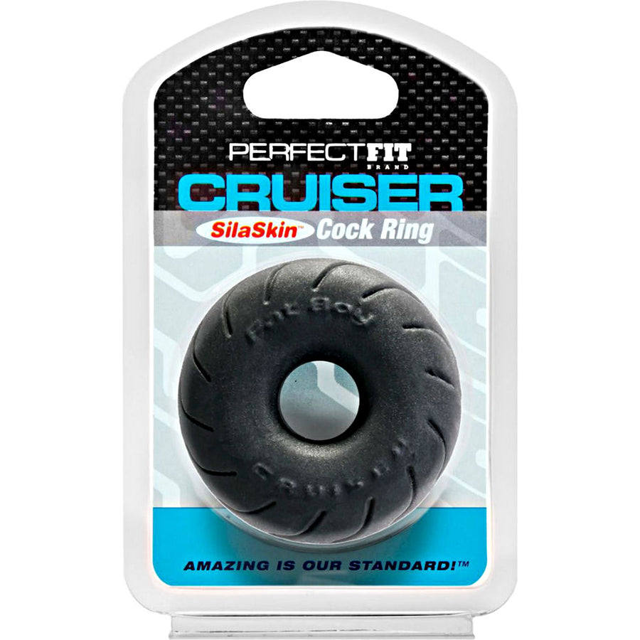 Perfect Fit SilaSkin Cruiser Cock Ring One Size Black