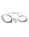 Pipedream Fetish Fantasy Series Beginners Metal Wrist Cuffs Silver Handcuffs