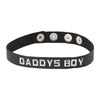 Spartacus Leather DADDYS BOY Wordband Adjustable Collar Black