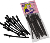 Party Favors Dicky Sipping Straws 10 Piece Black